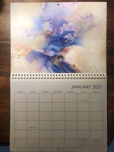 Jess Barnett 2021 calendar